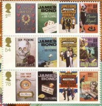 Timbres James Bond et Ian Fleming.