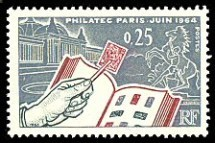 Timbre de France Philatec 1964.
