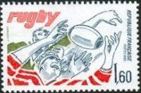 TIMBRE FRANCE RUGBY 1982