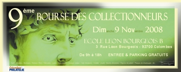 Affiche bourse multicollection Colombes 2008.