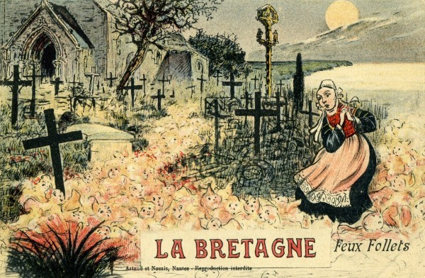 Carte humour Breton : Feux Follets