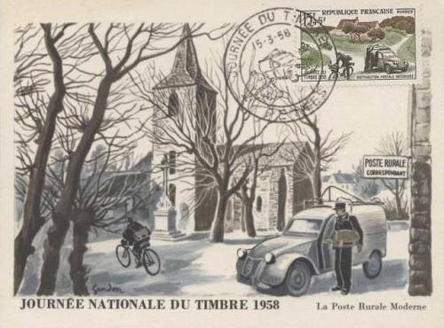 [IMAGES] Les cartes postales Citroën Carte-fdc-citroen-2cv