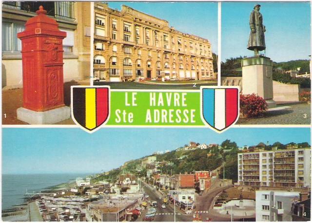 La poste belge sainte adresse durant la 1 re guerre - Bureau de poste belgique ...