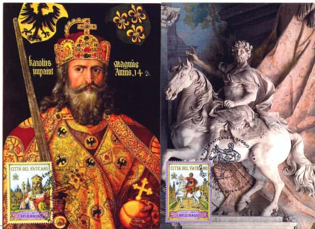 Cartes maximum Charlemagne.
