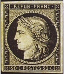 Collection de timbres.