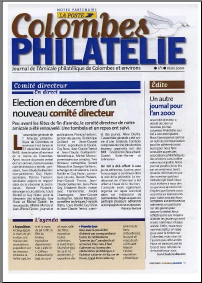 Journal Colombes philatélie N°1