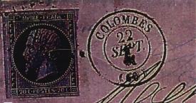 Oblit ration pc 911 et gc 1079 - Bureau de poste colombes ...