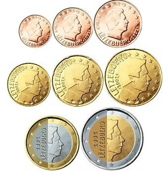 Pièces d'euros Luxembourg.