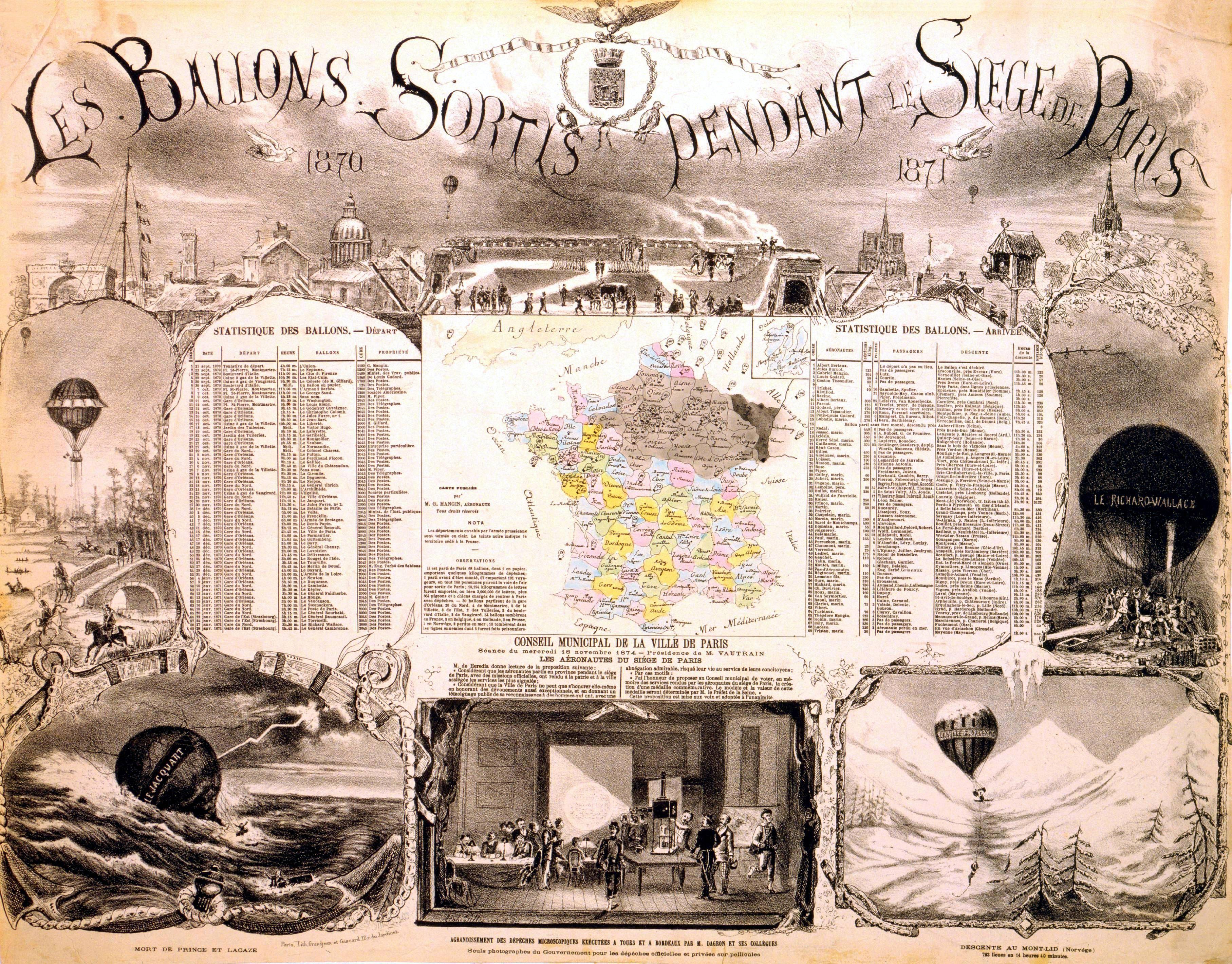 En ballon ! : pendant le siège de Paris, souvenirs d'un aéronaute (Éd.1871) - Gaston Tissandier