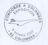 Cachet concorde a Colombes.