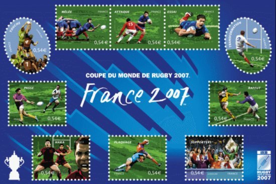 TIMBRE FRANCE RUGBY ALLEZ LES PETITS 2007