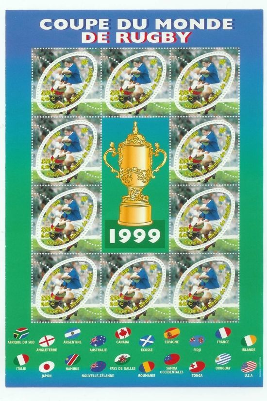 Philatelie coupe du monde de rugby 2007 - Coupe du monde de rugby en france 2007 ...