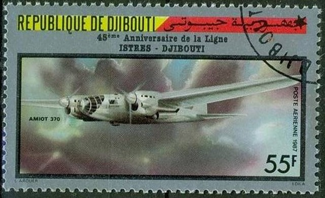 Timbre - Avion Amiot 370.