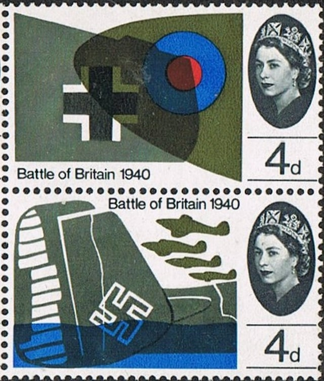 Timbres -Royal Air Force contre Luftwaffe, la bataille d'Angleterre.