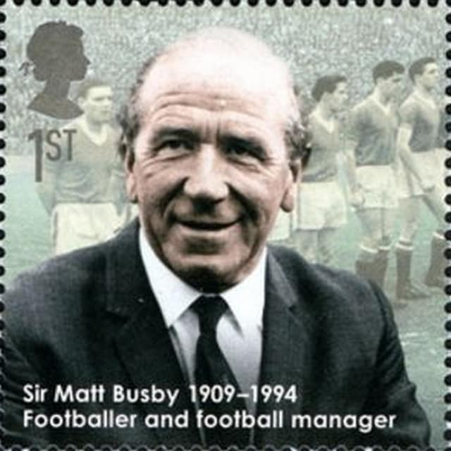 Timbre - Sir Matt Busby 1909-1904 .
