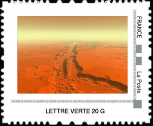 Timbre Collector - Mars le canyon Valles Marineris.