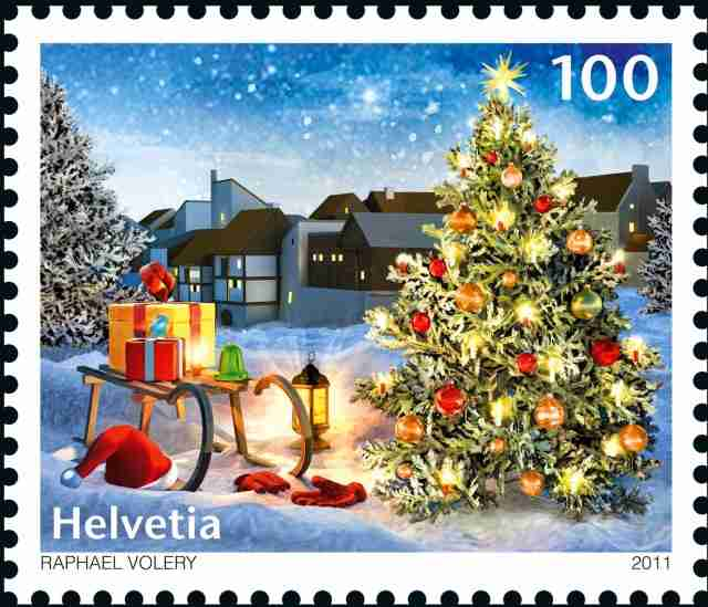 La tradition du sapin de Noël.