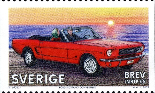 Timbre - Ford Mustang convertible.