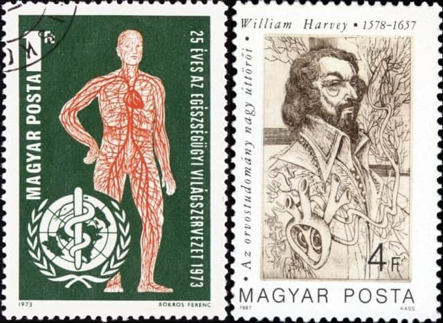 Timbres - William Harvey et la circulation du sang.