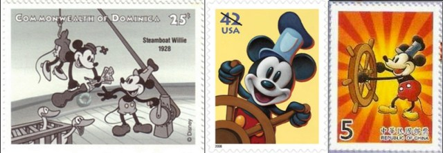 Timbres - Steamboat Willie - Mickey Mouse.