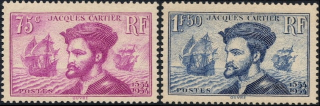 Timbres - Jacques Cartier 1491-1557.