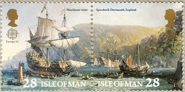 Timbres - Le Mayflower et le Speedwell.