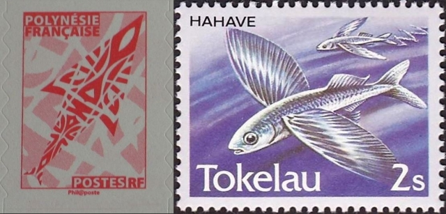 Timbres - Poissons volants.