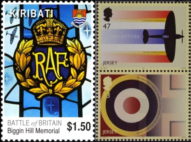 Timbres - La RAF Royal Air Force durant la Bataille d'Angleterre.