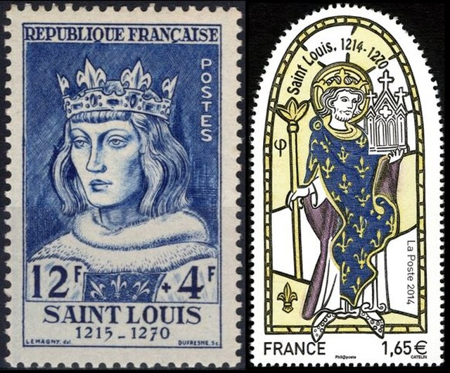 Timbres - Saint Louis roi de France (1214-1270).