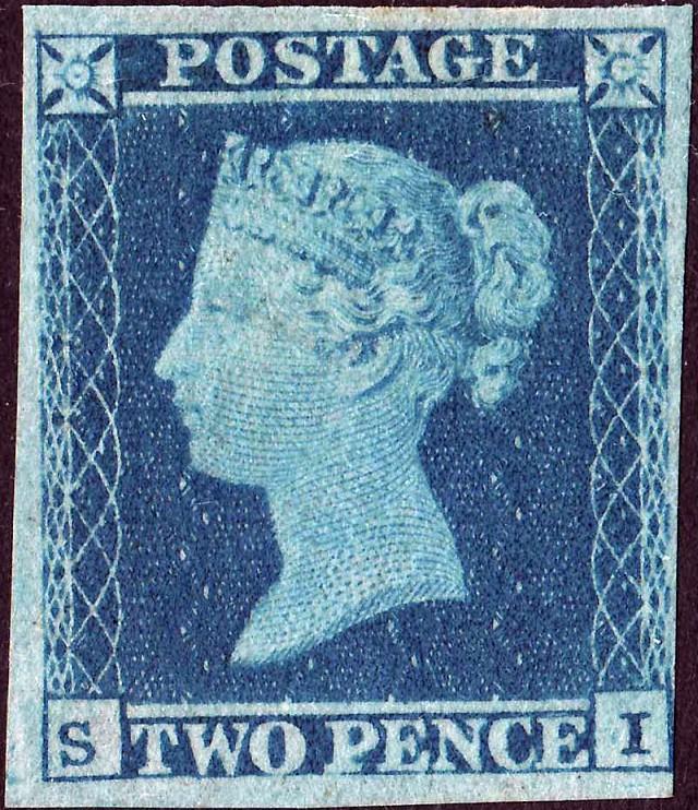 69f212014654 Premier timbre au monde   le One penny black.