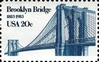 Timbre du pont de Brooklyn à New York