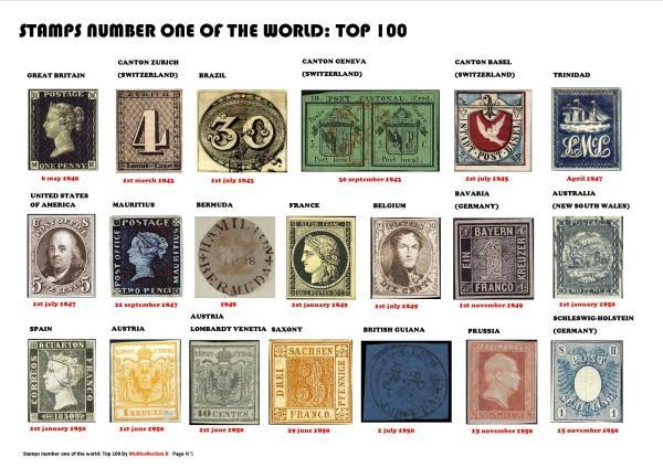 Stamps number one top 100