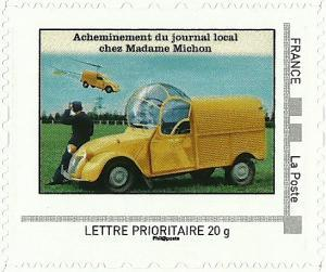 Timbre 2cv distibution journal local.