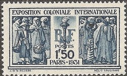 Timbre - Exposition Coloniale Internationale 1931.