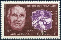 Jeanne d'Arc au bucher - Sculpture par Paul Claudel.